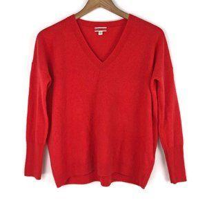 J. Crew | 100% Cashmere V-Neck Boyfriend Sweater